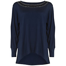 Buy Rise Navy Florence Top, Navy Online at johnlewis.com