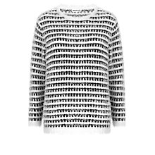 Buy Whistles Monochrome Eyelash Jumper, Ivory Online at johnlewis.com