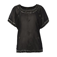 Buy Rise Layla Top, Black Online at johnlewis.com