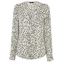 Buy Oasis Bird Shirt, Black/White Online at johnlewis.com