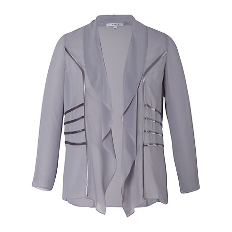 Buy Chesca Satin Trim Chiffon Shrug, Grey/Silver Online at johnlewis.com