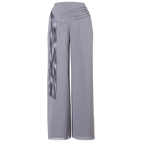 Buy Chesca Chiffon Trousers, Grey/Silver Online at johnlewis.com