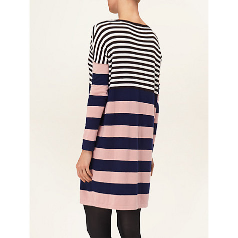 Buy Phase Eight Block Striped Tunic Dress, Blue/Pink Online at johnlewis.com