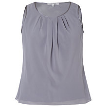 Buy Chesca Satin Trim Chiffon Camisole, Silver/Grey Online at johnlewis.com