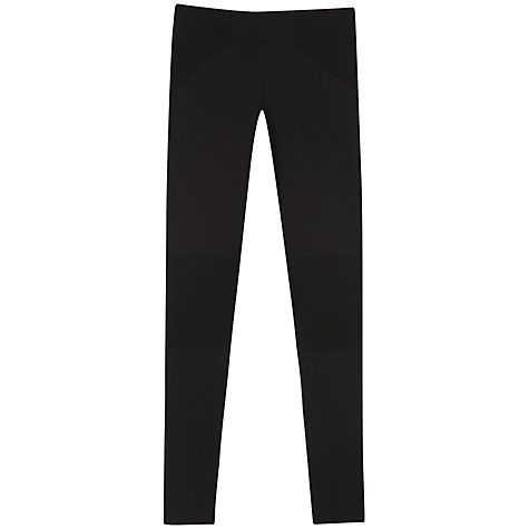 Buy Hoss Intropia Structured Leggings, Black Online at johnlewis.com