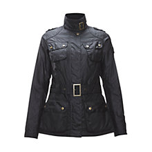 Buy Barbour International Ignition Waxed Jacket, Black Online at johnlewis.com