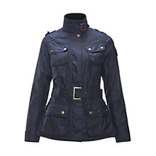 Buy Barbour International Oakwood Waxed Jacket, Indigo Online at johnlewis.com