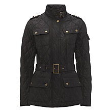 Buy Barbour Spring Tourer Quilted Jacket, Black Online at johnlewis.com