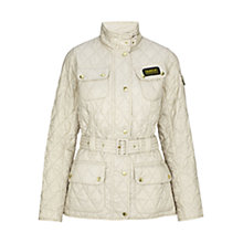Buy Barbour International Quilted Jacket, Pearl Online at johnlewis.com