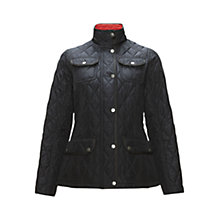 Buy Barbour Wooton Quilted Jacket, Navy Online at johnlewis.com