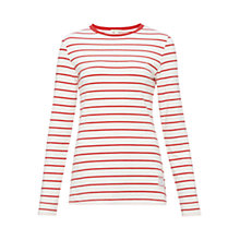 Buy Barbour Essington Stripe Top, Snow Red Online at johnlewis.com