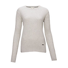 Buy Barbour Daisy Crew Neck Jumper, Pearl Marl Online at johnlewis.com