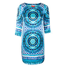 Buy Derhy Silk Dress, Turquoise Online at johnlewis.com