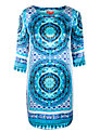 Derhy Silk Dress, Turquoise