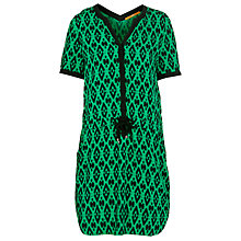 Buy Boss Orange Cancune Print Tunic Dress, Green/Black Online at johnlewis.com