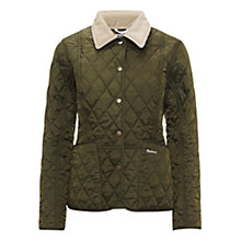 Buy Barbour Pantone Prism Quilted Liddesdale Jacket, Olive Online at johnlewis.com