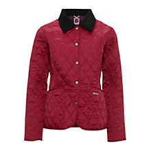 Buy Barbour Pantone Prism Quilted Liddesdale Jacket, Fuchsia Online at johnlewis.com