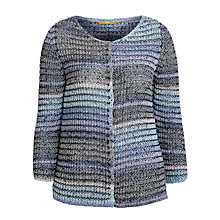 Buy Boss Orange Wendella Stripe Cardigan, Blue Online at johnlewis.com
