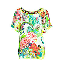 Buy Derhy Facade Flower Top, Ecru Online at johnlewis.com