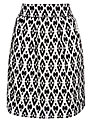BOSS Orange Printed Baleni Skirt, Monochrome