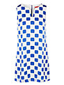 Derhy Square Dress, Bleu