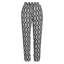 Buy BOSS Orange Sharony Trouser, Monochrome Online at johnlewis.com