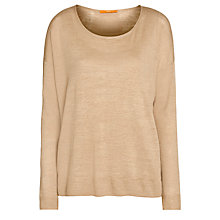 Buy BOSS Orange Warada Knitted Top, Medium Beige Online at johnlewis.com