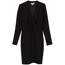 Buy Hoss Intropia Wrap Front Dress, Black Online at johnlewis.com