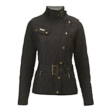 Buy Barbour International Spring Matlock Quilted Jacket, Black Online at johnlewis.com