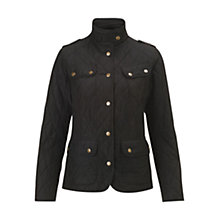 Buy Barbour International Drax Quilted Jacket, Black Online at johnlewis.com
