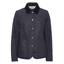 Buy Barbour Summer Wax Quilted Jacket, Navy Online at johnlewis.com