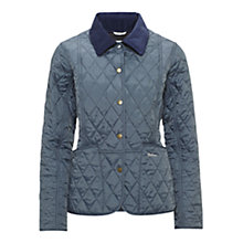 Buy Barbour Pantone Prism Quilted Liddesdale Jacket, Dark Chambray Online at johnlewis.com