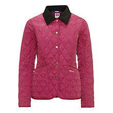 Buy Barbour Pantone Prism Quilted Liddesdale Jacket, Bright Pink Online at johnlewis.com
