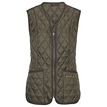 Buy Barbour Betty Liner Gilet, Olive Online at johnlewis.com
