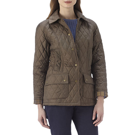 Buy Barbour Summer Beadnell Quilted Jacket, Mocha Online at johnlewis.com