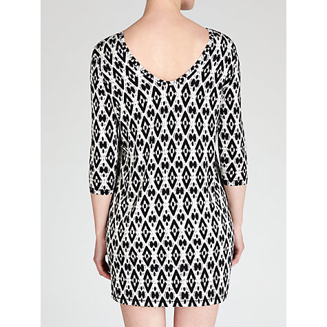 Buy BOSS Orange Danutas Jersey Dress, Black Print Online at johnlewis.com