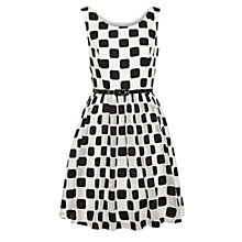 Buy Derhy Squares Dress, Noir Online at johnlewis.com