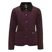 Buy Barbour Pantone Prism Quilted Liddesdale Jacket, Purple Online at johnlewis.com