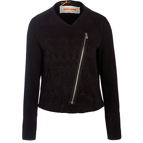 Buy Boss Orange Oada Biker Jacket, Black Online at johnlewis.com