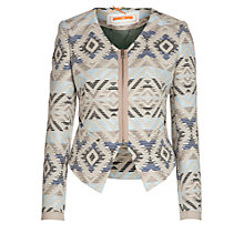Buy BOSS Orange Otula Aztec Jacket, Blue Multi Online at johnlewis.com