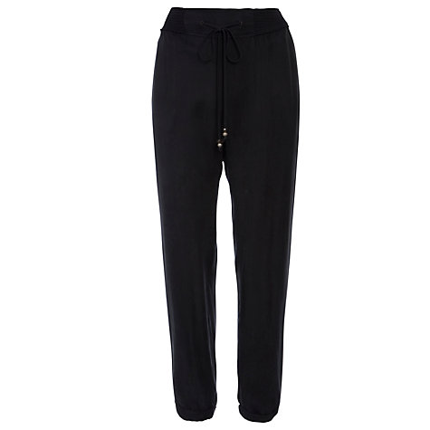 Buy Boss Orange Sharony Silk Blend Trousers, Black Online at johnlewis.com