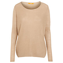 Buy Boss Orange Silk Back Wava Knit, Medium Beige Online at johnlewis.com
