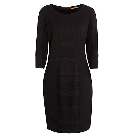 Buy BOSS Orange Afunk Contrasting Dress, Black Online at johnlewis.com