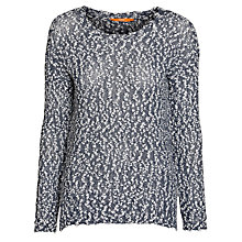 Buy Boss Orange Wigrun Lurex Jumper, Medium Blue Online at johnlewis.com