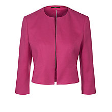 Buy Boss Black Jilani Linen-blend Jacket, Bright Pink Online at johnlewis.com