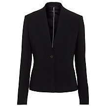 Buy BOSS Woman Jimalou Tux Jacket, Black Online at johnlewis.com