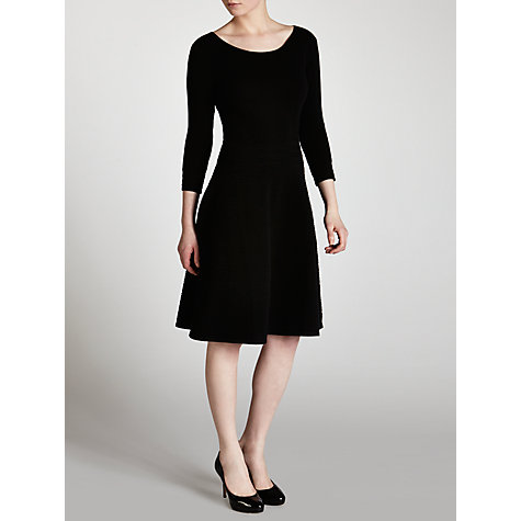 Buy Boss Black Skater Knit Dress, Black Online at johnlewis.com