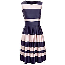 Buy Boss Black Striped Hilja Dress, Navy Blue/Pale Pink Online at johnlewis.com