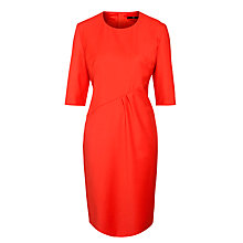 Buy Boss Black Wool Dipera Dress, Fire Red Online at johnlewis.com