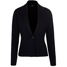 Buy BOSS Woman Knitted Jacket, Open Blue Online at johnlewis.com